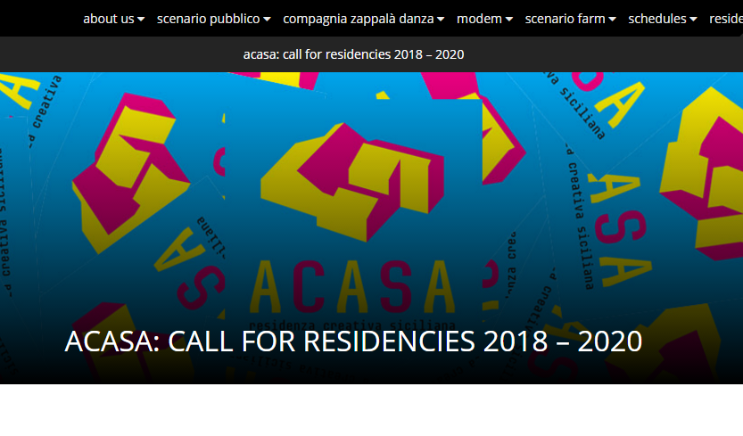 ACASA: CALL FOR RESIDENCIES 2018 – 2020