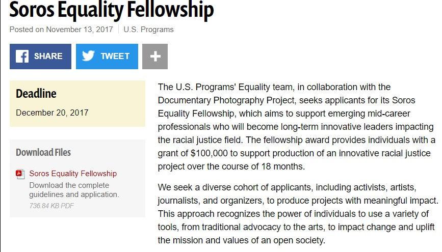 Soros Equality Fellowship