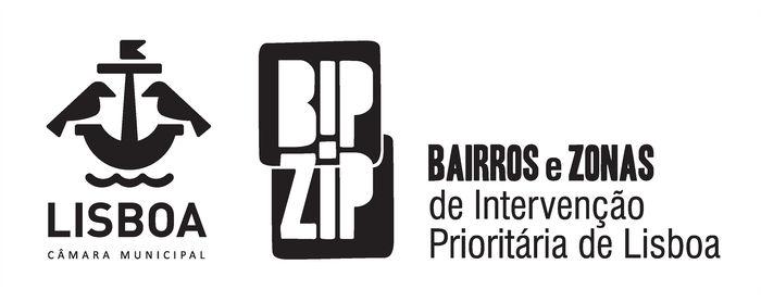 Logotipos da Câmara municipal de Lisboa e BIP ZIP.