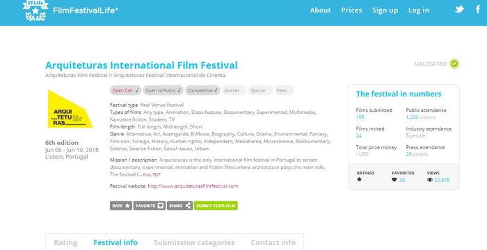 Arquiteturas International Film Festival