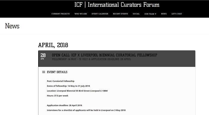 Open Call: ICF x Liverpool Biennal Curatorial Fellowship