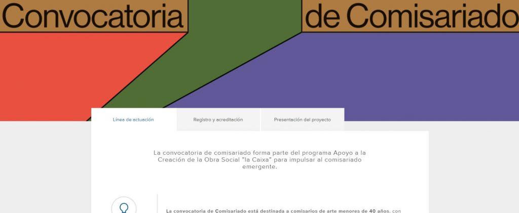 """Apoyo a la Creación de la Obra Social """"la Caixa"""" – comisariado emergente."""