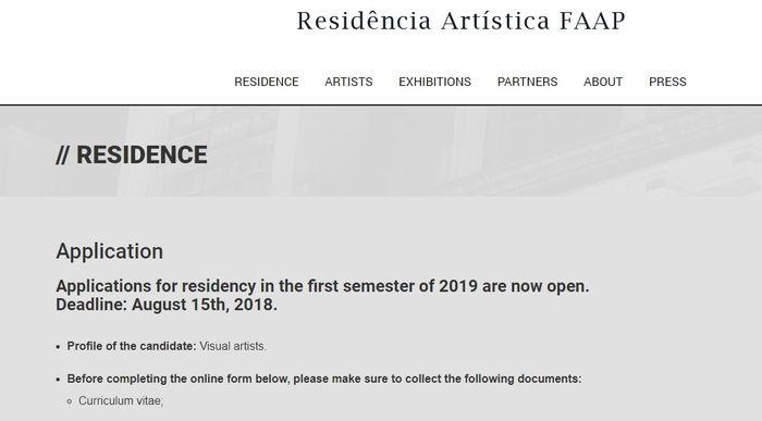 Residência Artística FAAP