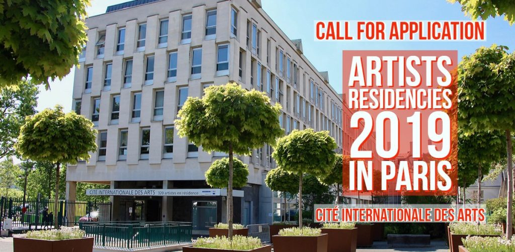 Call for application 2018 – Artist residency Cité international des Arts