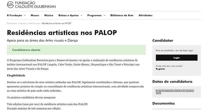 Residências artísticas nos PALOP